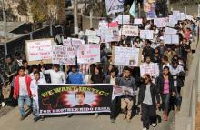 Photo: Protest rally at Shillong