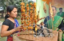 Women preparing traditional food during Ethnic Food Festival 2012