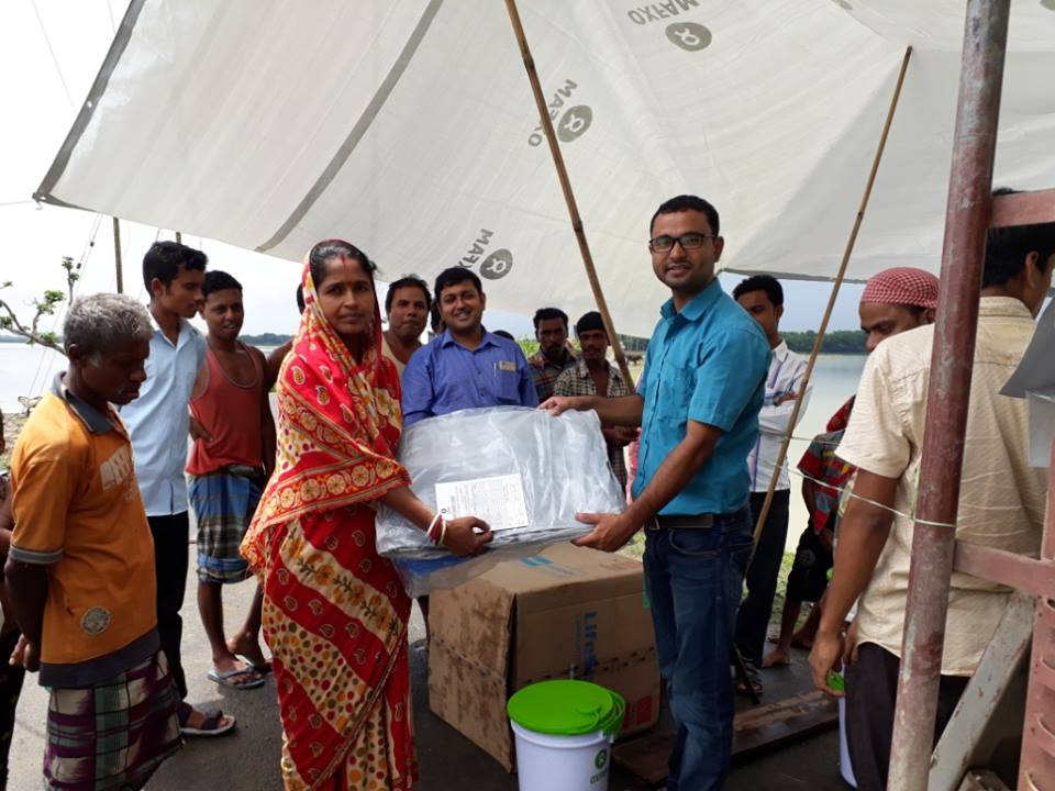 Relief support to the flood affected community in Karimganj