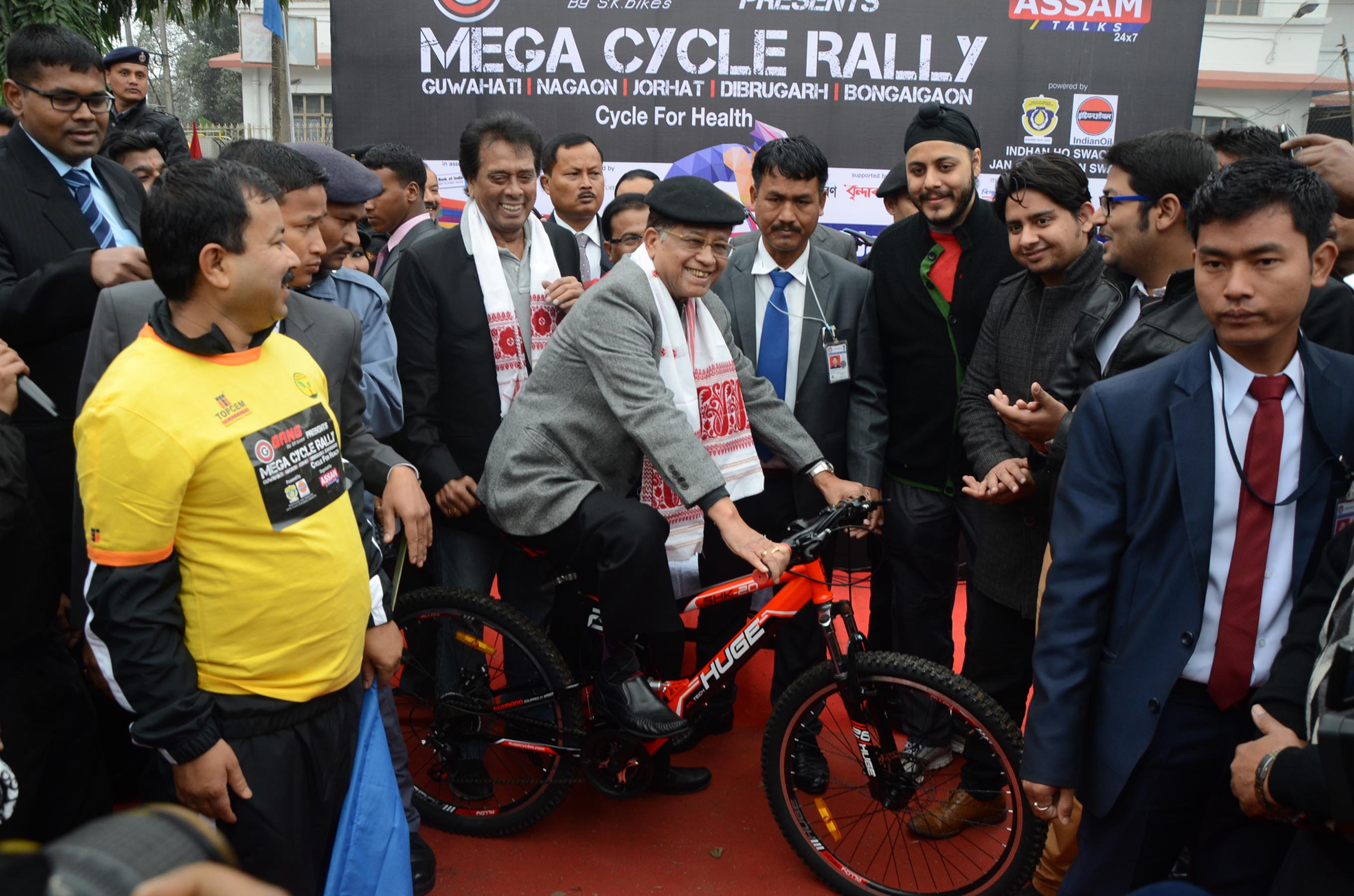 Mega cycle rally in Assam   Assam Times