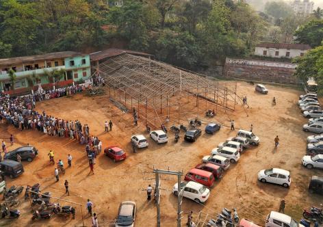 3rd Phase of the Lok Sabha polls in Guwahati on Tuesday. Photo:UB Photos