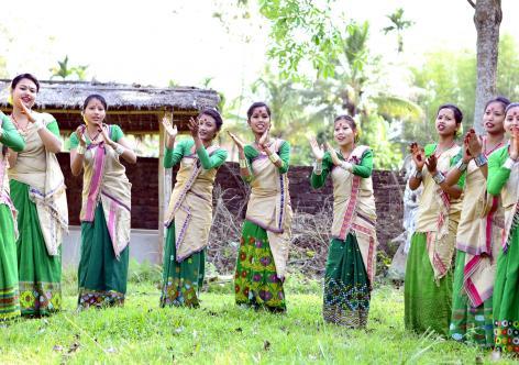 Bihu dance in Demow. Photo: UB Photos