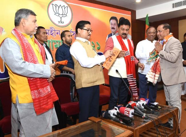 Ganashakti Party MLA Bhuban Pegu joins BJP recently