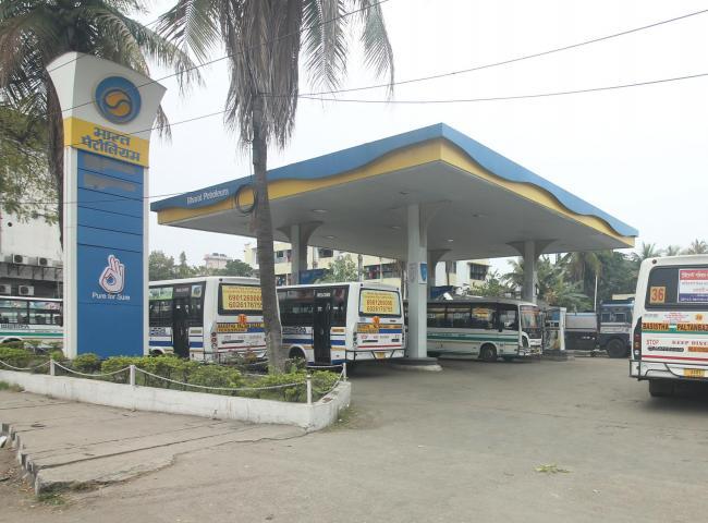 Closed Petrol pump during Janata Curfew on Monday. Pix by UB Photos