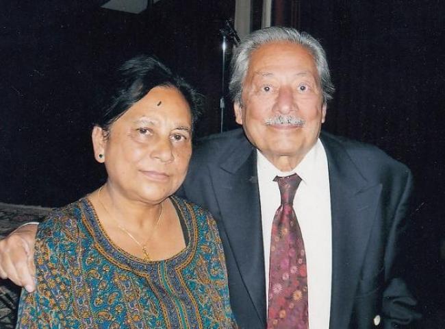 File Photo: Rini Kakati with Saeed Jaffery at Brent Indian Association, Wembley, London