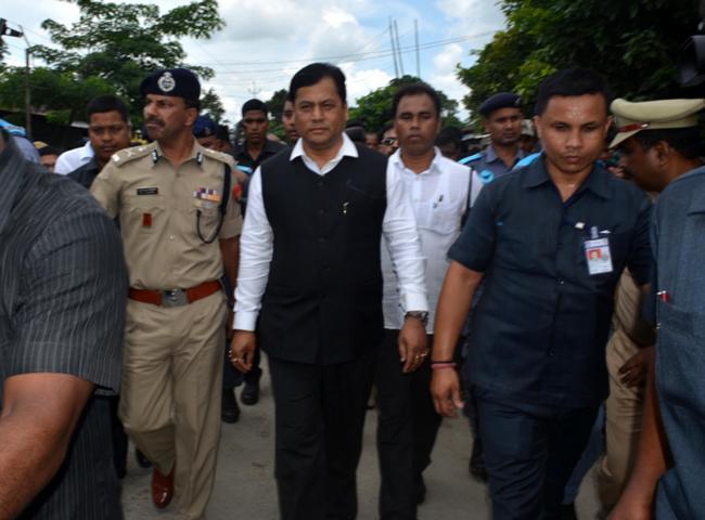 CM Sarbananda Sonowal visits Balajan Tiniali