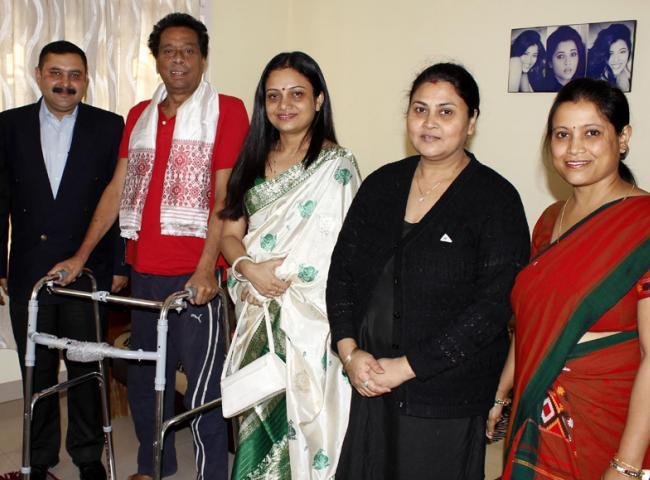 Biju Phukan felicitated by NRL Kalyani Club. Photo: UB Photos.