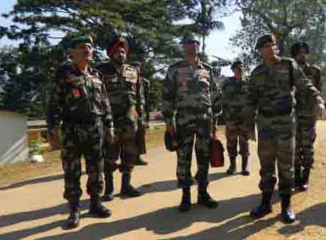 Director General Assam Rifles Visits Haflong Garrisson on December 12, 2012