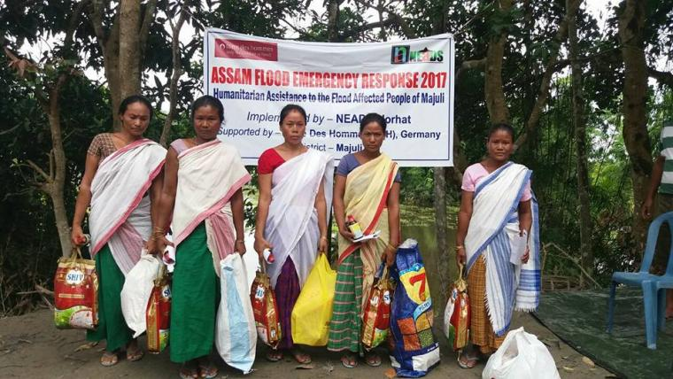 Emergency relief support to the flood ravaged people of Majuli island