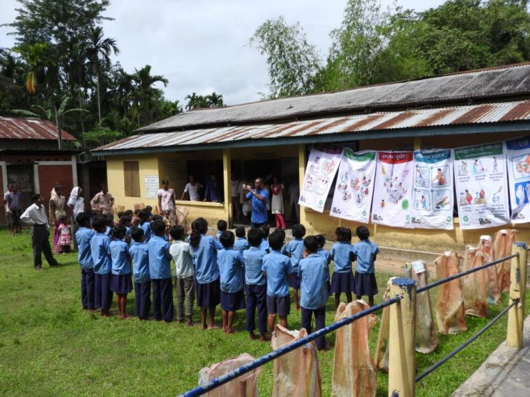 Imparting school based Public Health Promotion in Jorhat in disaster affected areas