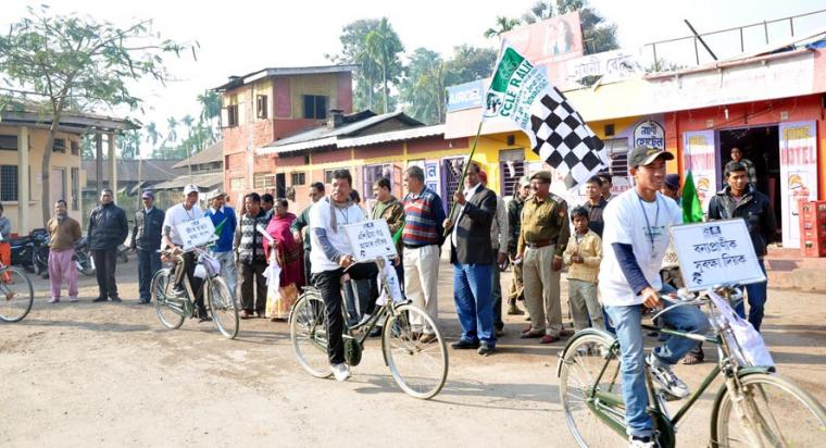 Cycle Rally for conservation of wildlife in Kaziranga Park areas