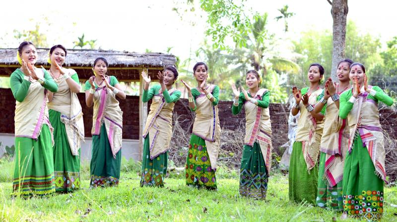 Bihu dance in Demow. Photo: UB Photos