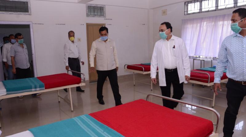 CM Sarbananda Sonowal visits Rupnath Brahma Civil Hospital on Wednesday.