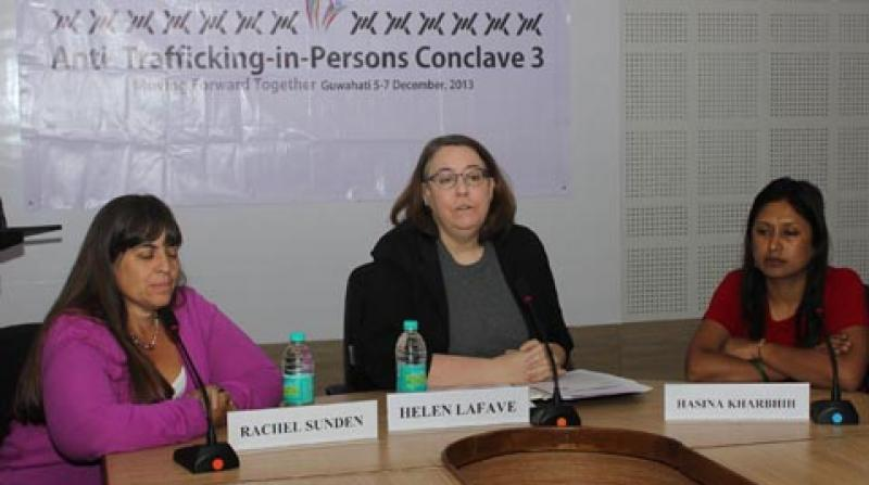 3rd Annual Trafficking in Persons Conclave - press meet. Photo: UB Photos