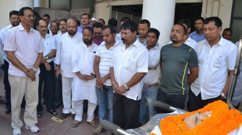 AGP leaders paying last respect to Prabin Gogoi