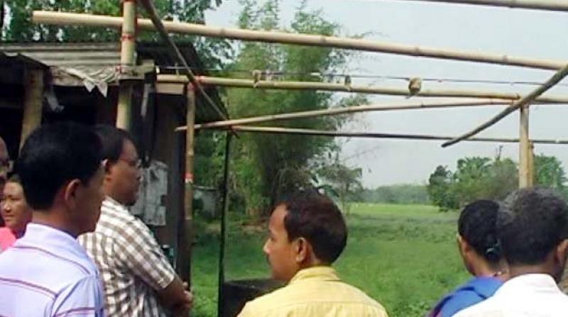 Bijni MLA Kamal Singh Narzary visits the site