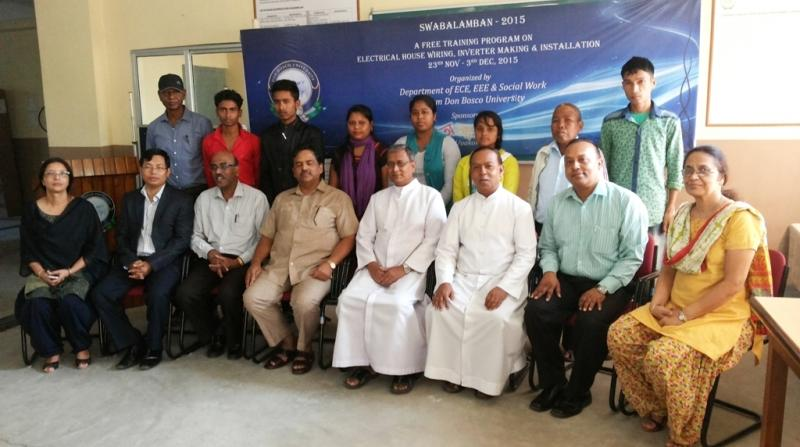 Student trainees pose with department heads