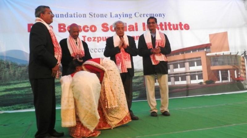 Fr VM Thomas, Bishop Robert Kerketta, VC Tezpur University and VC Assam don Bosco Univeristy Guwahati