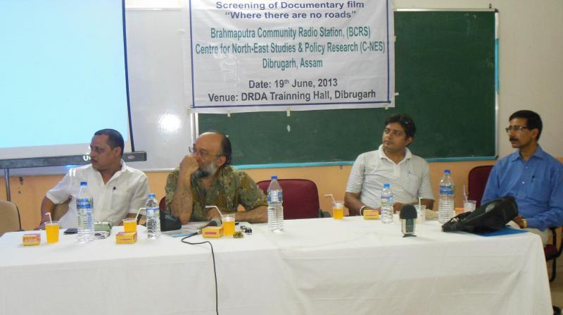 Panelists of the discussion (fr left Sri. Mukul Kachari, District Lead Bank Manager, Sri Sanjoy Hazarika MT, C-NES, Dr. Pranjal Sarma,