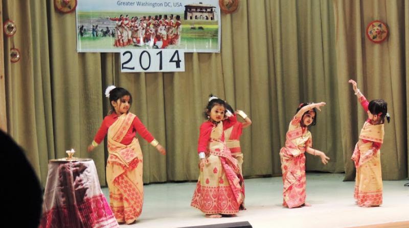 Kids performing Bihu Dance in the Washington D.C Bihu
