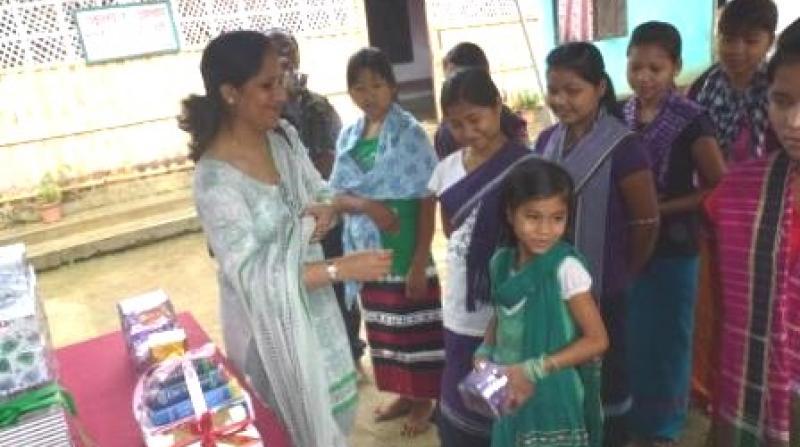 Radhika Chandel, wife of Deputy Inspector General, Assam Rifles