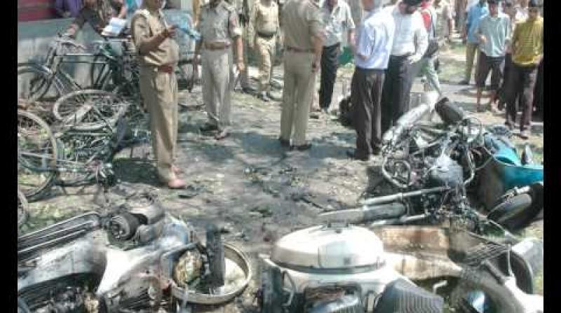 File photo: October 30, 2008 blast at Ganeshguri