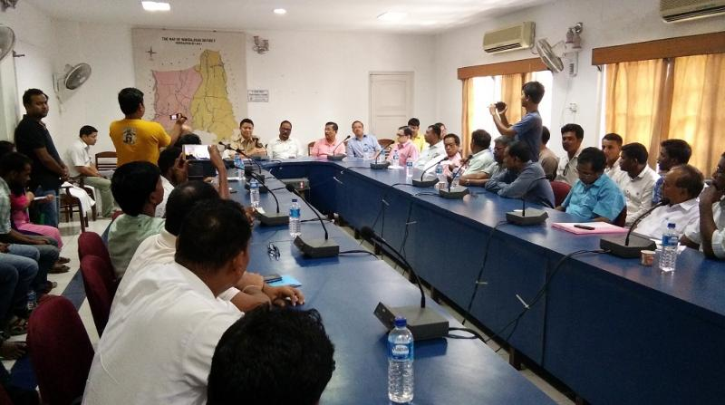 A peace meeting held at Kokrajhar DC office on Friday