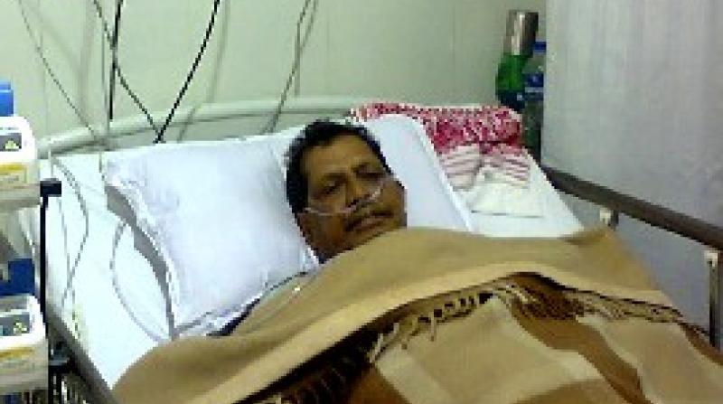 Ratan Lahkar at hospital
