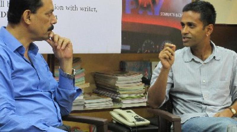 Som and Dhruba at Guwahati book launch. Photo: Gorgie Pope