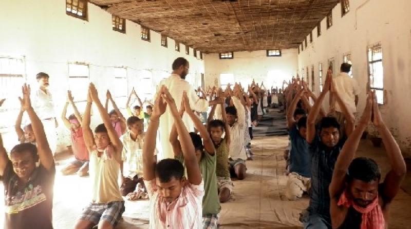 Yoga in Dibrugarh Jail