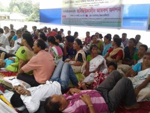 Teachers were on hunger strike till day before the 71st I'Day across the state