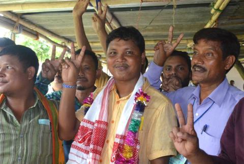Biswa Deori, winning Congress candidate
