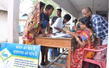 People checking their names in final NRC list at NRC Centre of Panchmaile Gao Panchayat in Tezpur on 01-09-19. Photo by UB Photos