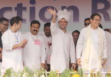 Congress President Rahul Gandhi addresses public meeting in Agartala