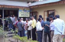 Long queue at a NRC Sava Kendra at Tezpur