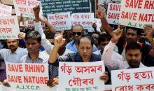 protest against rhino poaching