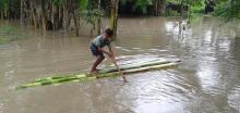 50 villages under flood water at Kalgachia area. Photo: UB Photos
