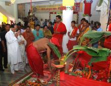 CM Tarun Gogoi at Barowari Dispur Durga Puja