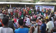 A flood relief camp in Marigaon