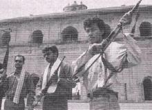 File photo: ULFA cadres at Rong Ghar, Sivasagar in 1979