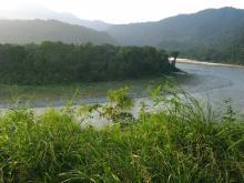 Manas river at the India-Bhutan border