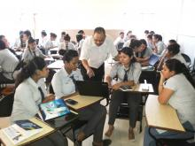 Dr Luckose Jacob trains MSW students for project management