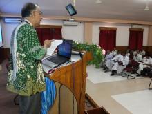 Prof Thomas Menamparampil delivers keynote address