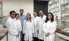 Prof Sunandan Baruah working in the Environmental Toxicology lab at NDSU