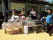 A R donates sports items, computer etc. to schools