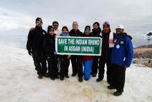 Save the Rhino campaign features in Antarctic expedition