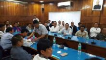 Arunachal Pradesh Congress Legslative Party meeting in Itanagar. Photo: Ravi Kumar