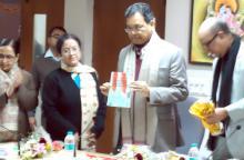 Paban Singh Ghatowar at JNU Special center for Sanskrit Studies at 10 AM on 18th January 2013