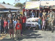 Assam Rifles donates equipment to government school at Sangbar