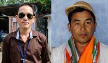 Ihuing Pame and Laltlansang Hmar - winners at 2013 Dima hasao election